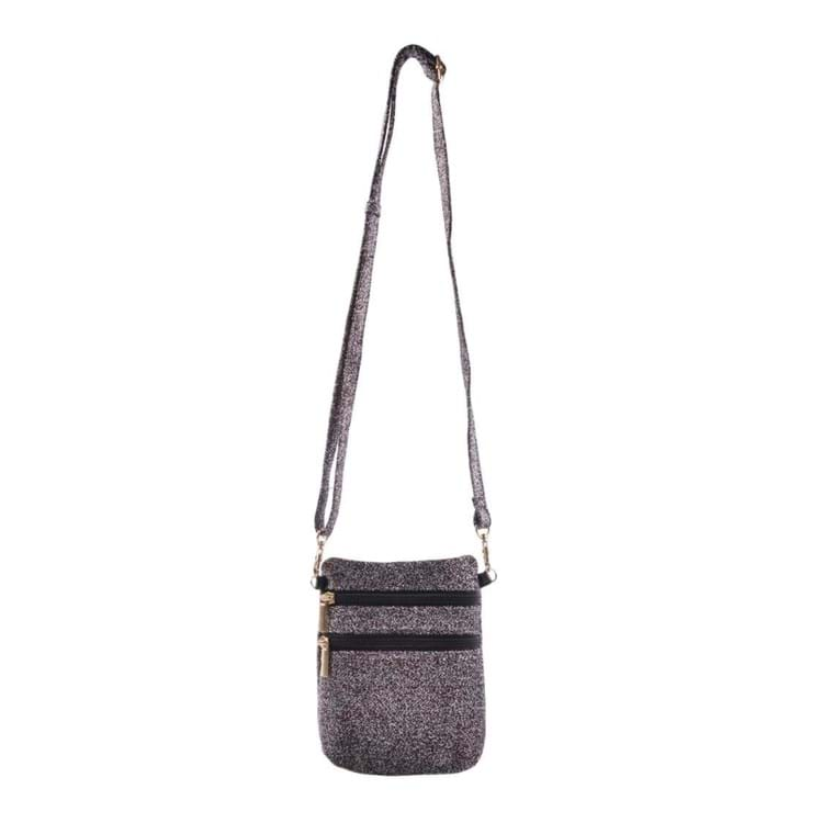 Cross Body Anja Glitter Rose/Black 2