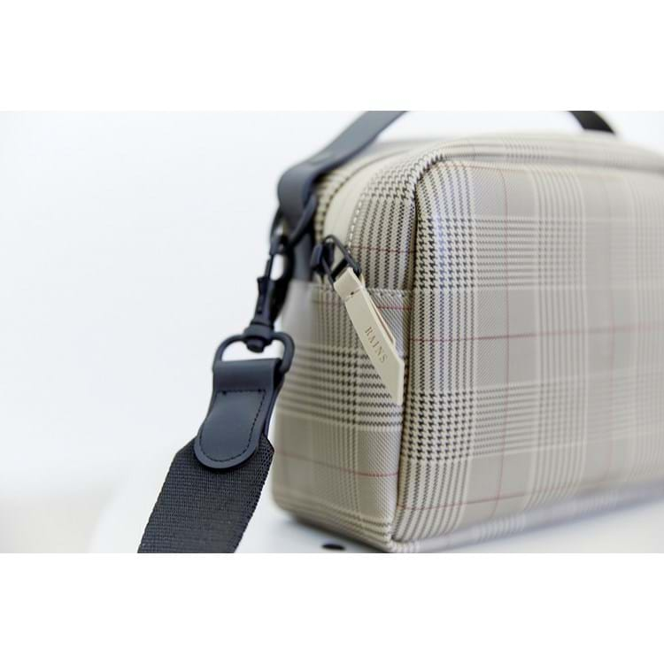 Rains Crossbody Check Box Bag Beige Tern 3