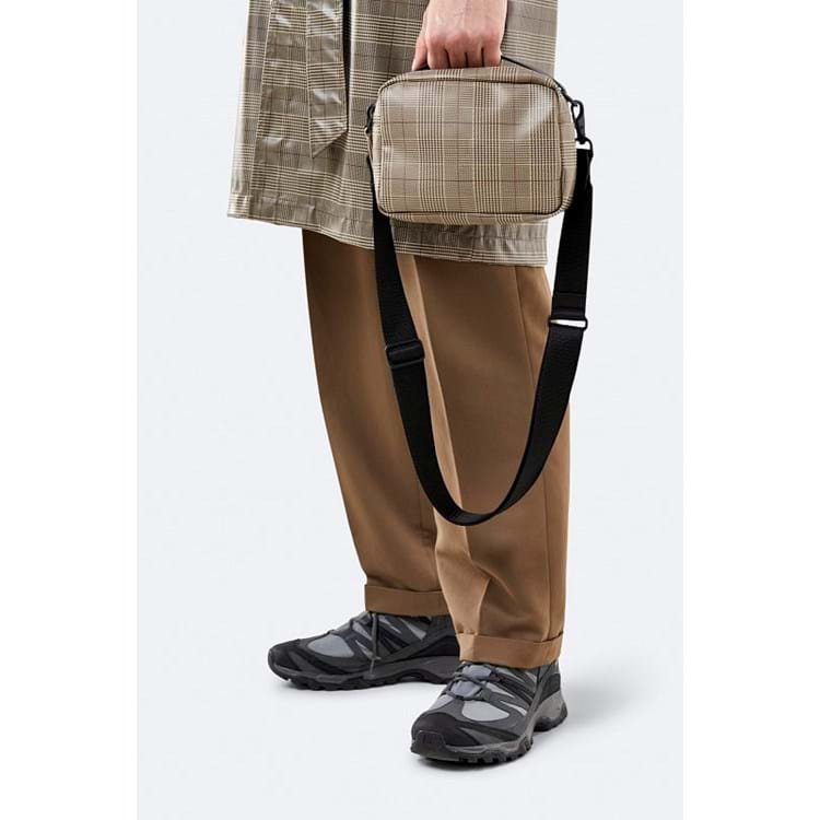 Rains Crossbody Check Box Bag Beige Tern 2