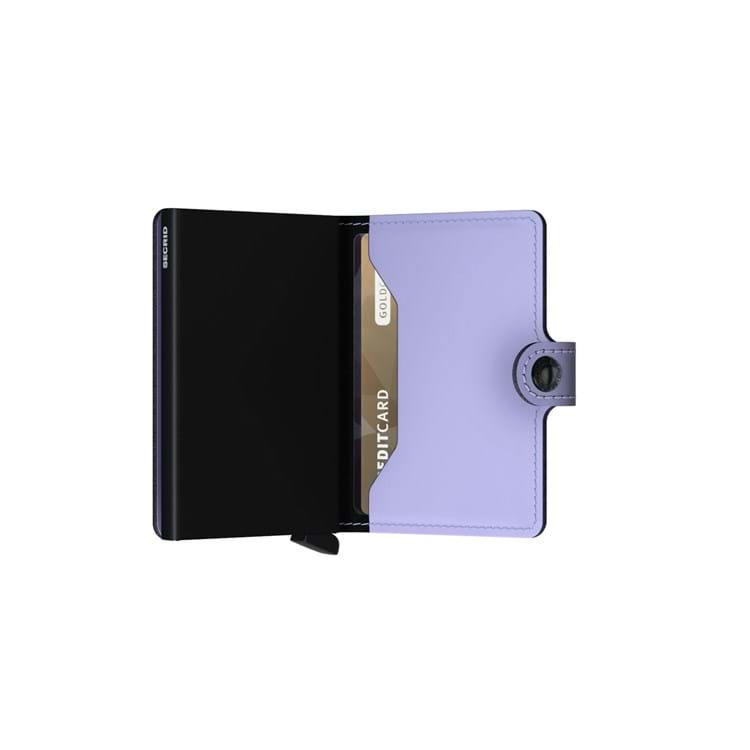 Secrid Kortholder Mini wallet Lilla/sort 4
