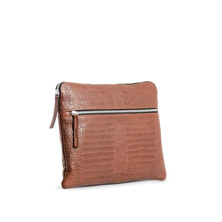 Computer sleeve Dundee Brown Croco 2