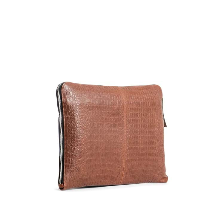 Computer sleeve Dundee Brown Croco 3