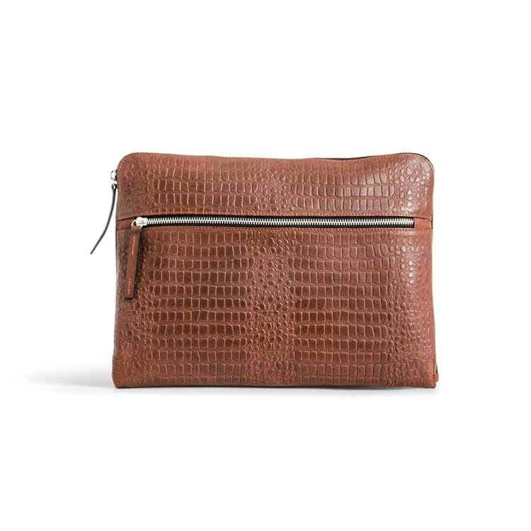 Still Nordic Computer sleeve Dundee Brown Croco 1