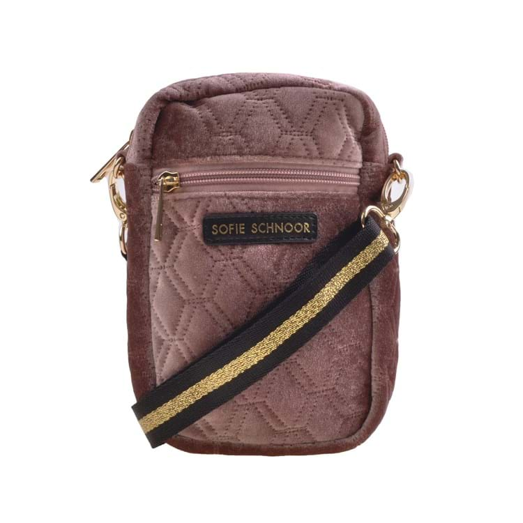 Petit by Sofie Schnoor Cross Body Velour Mørk Rosa 1