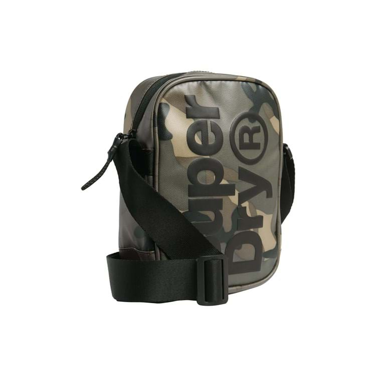 Superdry Skuldertaske Side Bag Grøn Camou 2